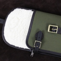 Canvas and Leather Shotgun Slip with Flap, Zip and Buckle thumbnail