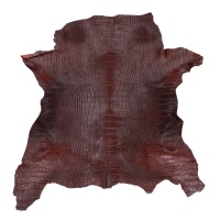Calf Hair On With Print Hides - Maroon thumbnail